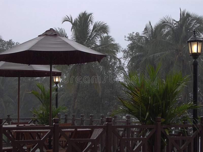 The rainy weather royalty free stock photography