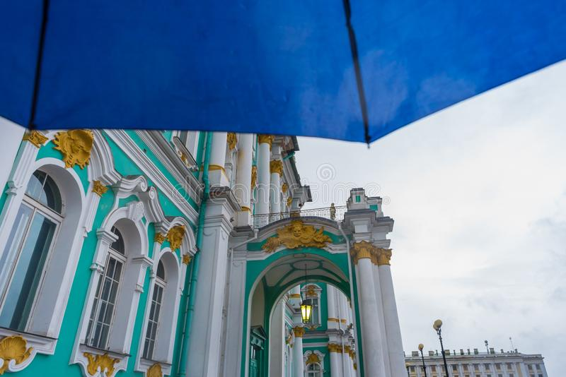 Rainy weather in Saint Petersburg royalty free stock photo