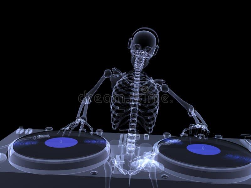 Raio X de esqueleto - DJ 2 ilustração do vetor