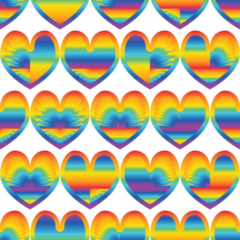Raio do amor do arco-íris como o teste padrão sem emenda da paisagem ilustração royalty free