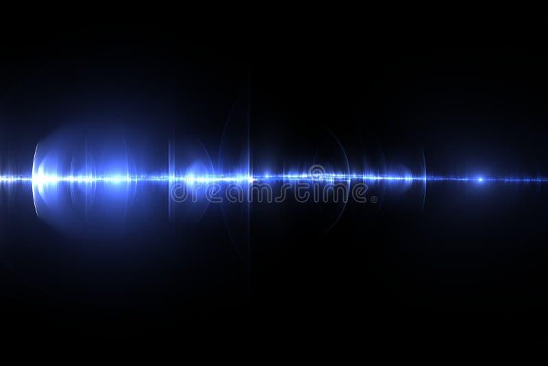 Raio laser azul foto de stock