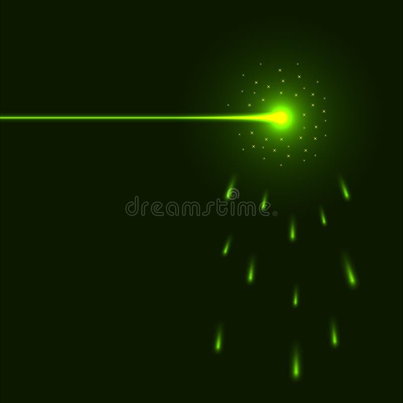 Raio laser verde ilustração do vetor
