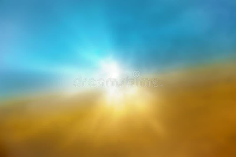Raios claros de Sun fotos de stock