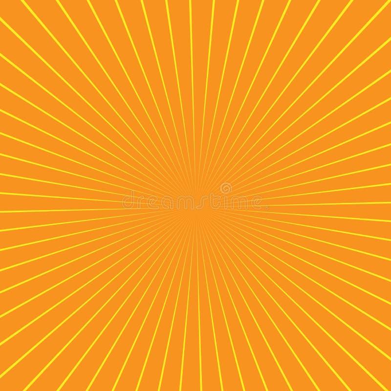 Raios da ilusão Ilustração do vetor Fundo retro do sunburst Elemento do projeto do Grunge Contexto preto e branco Bom para imagen ilustração royalty free