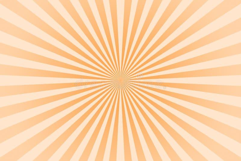 Raios de cor pastel laranja plano de fundo abstrato ilustração do vetor