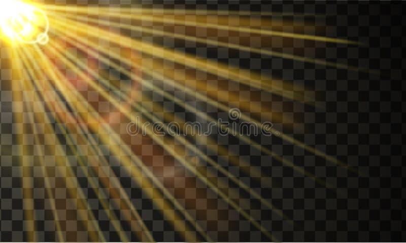 Raios de sol com efeito da dispersão ilustração royalty free