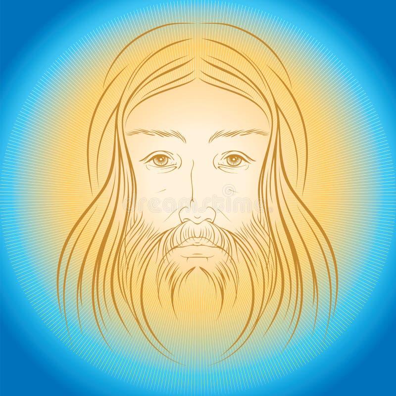 Raios do gloride da luz do brilho de Jesus Christ ilustração royalty free