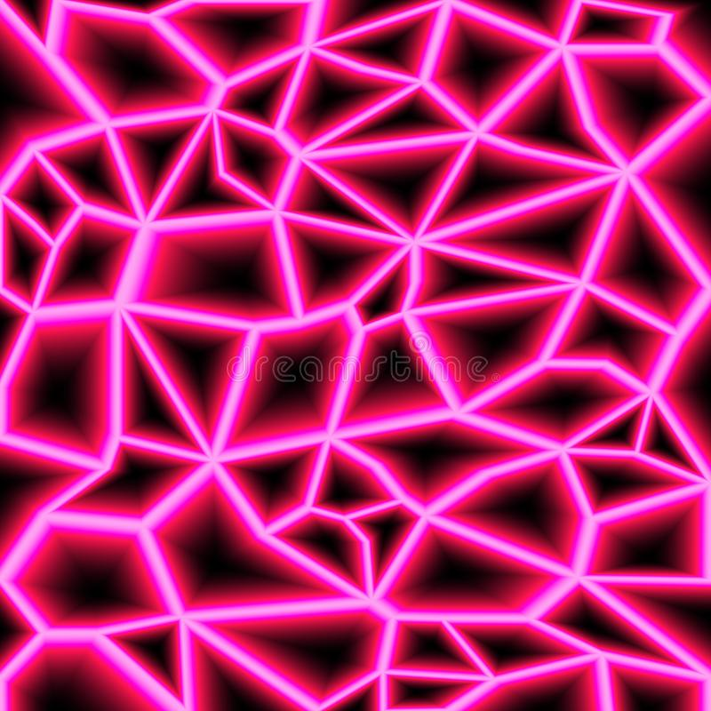 Raios laser aleatórios coloridos no fundo escuro Lugar para seu texto Ilustra??o do vetor ilustração stock