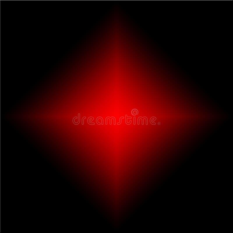 Raios pretos e vermelhos misturados ilustração do vetor