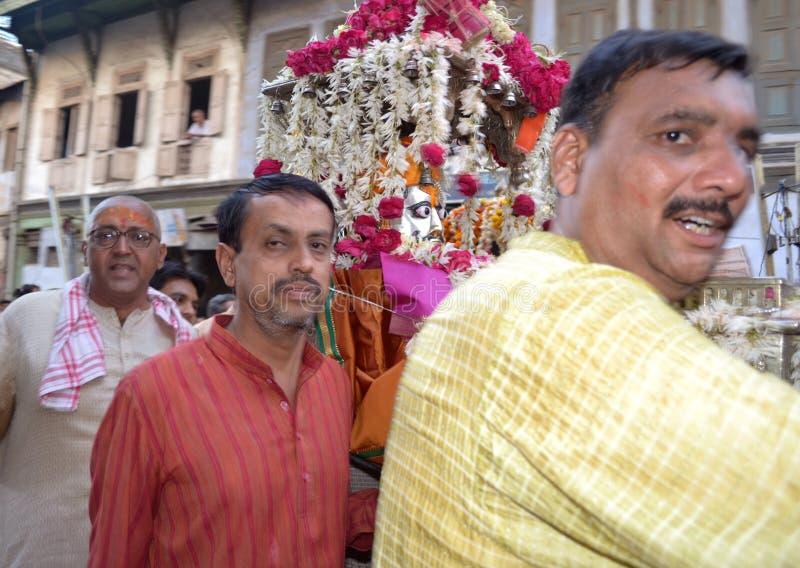 Raipur, Ahmedabad 5. April 2012 - Lord Hatkeshwar stockbilder