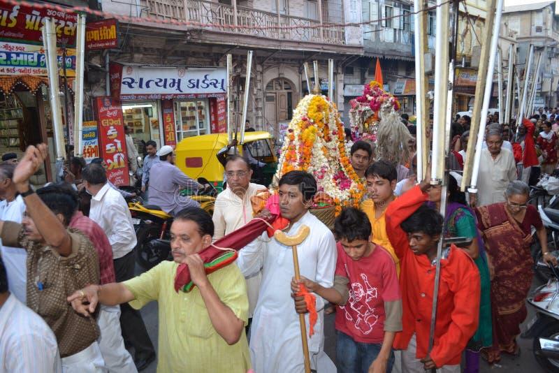 Raipur, Ahmedabad 5. April 2012 - Lord Hatkeshwar lizenzfreies stockbild