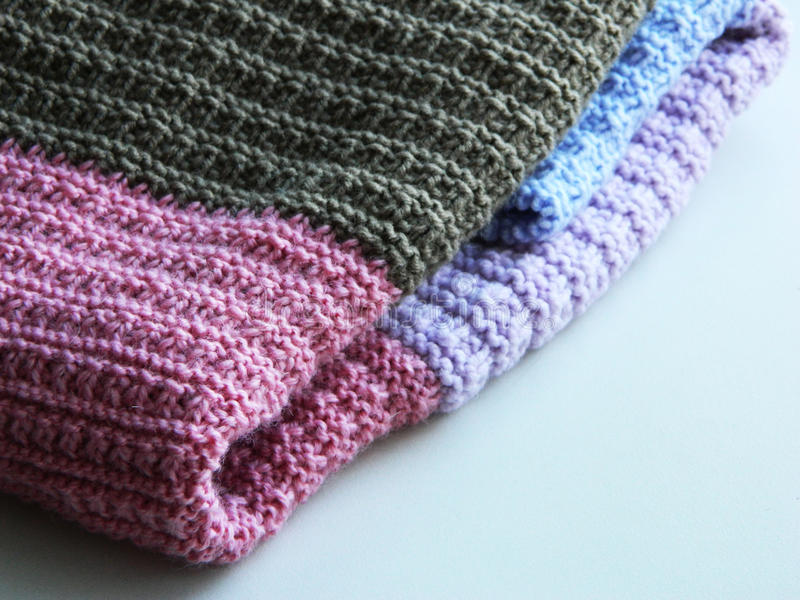Rais tricotés de plaid image libre de droits