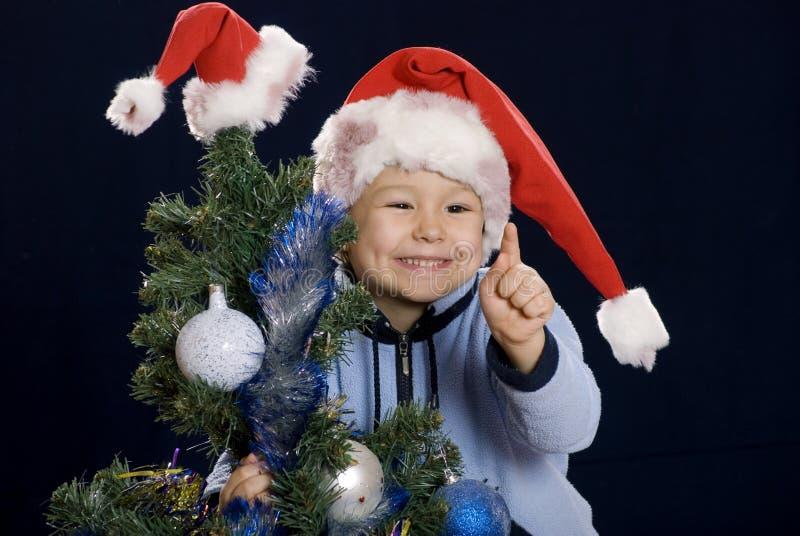 raise för ferie för pojkejulfinger till royaltyfria bilder