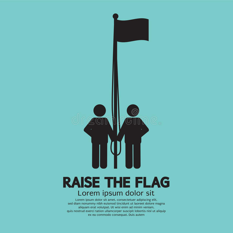 Raise The Flag Symbol royalty free illustration
