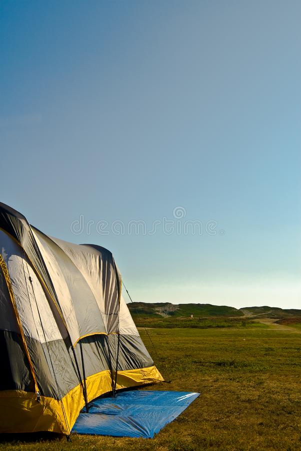 Raise The Tent - Camping Series Stock Photo