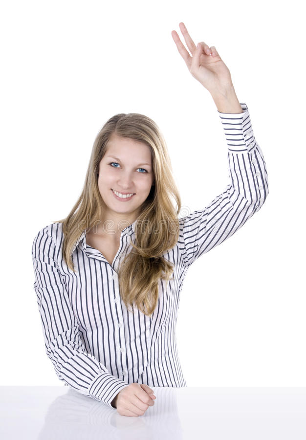 Raise up hand royalty free stock image