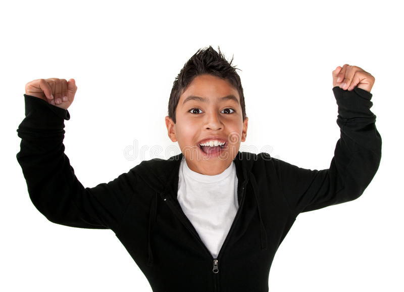 Raised Arms Of Joy Stock Photo