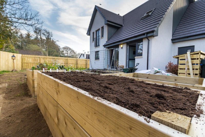 Raised bed stock images