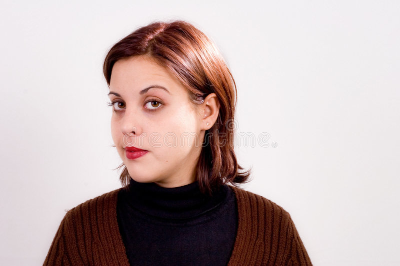 Download Raised eyebrow stock photo. Image of head, unpleased, unsatisfied - 286674