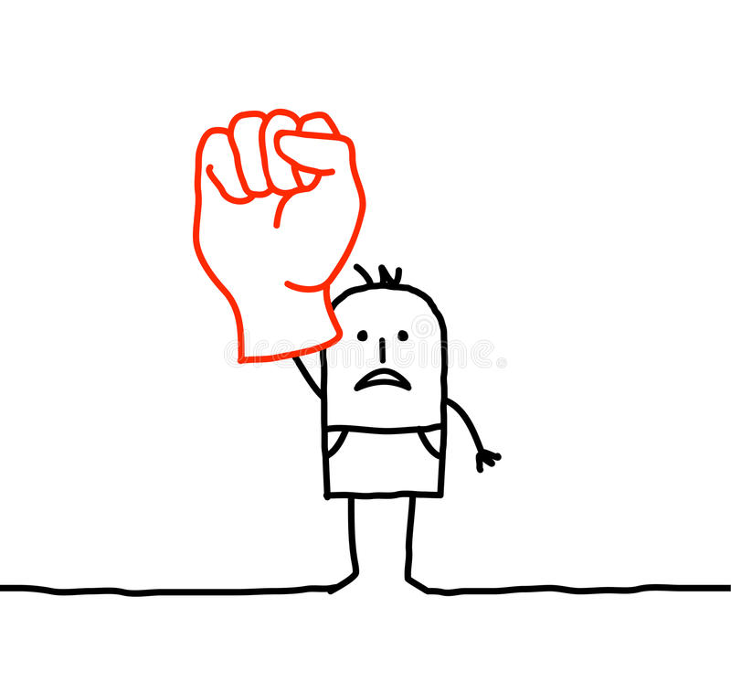 Raised fist vector illustration