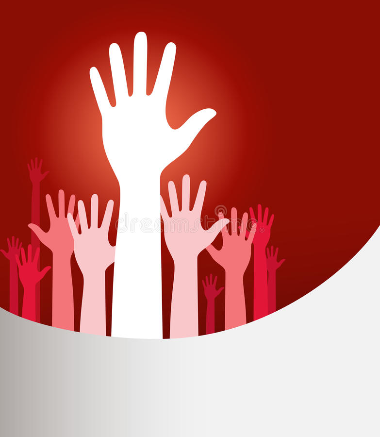 Raised Hands Royalty Free Stock Image