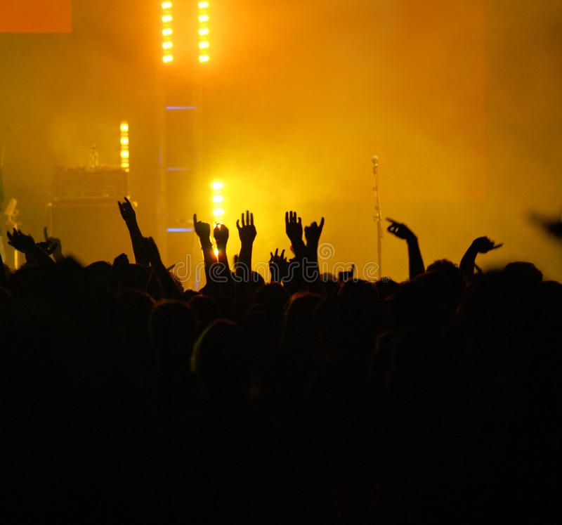 Download Raised hands stock image. Image of lighting, hands, music - 22673359
