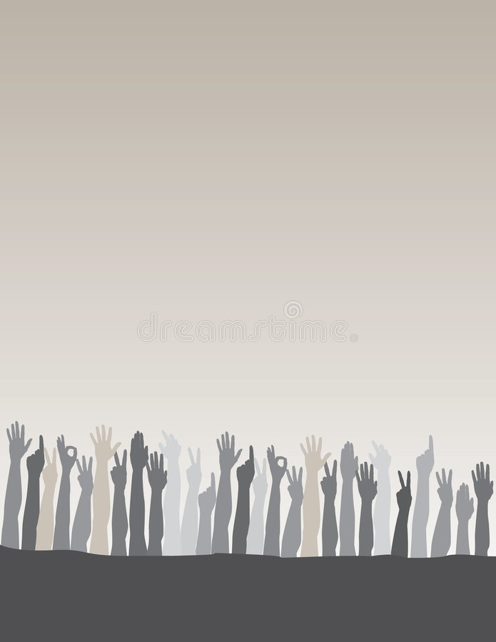 Raised Hands Background Stock Photography