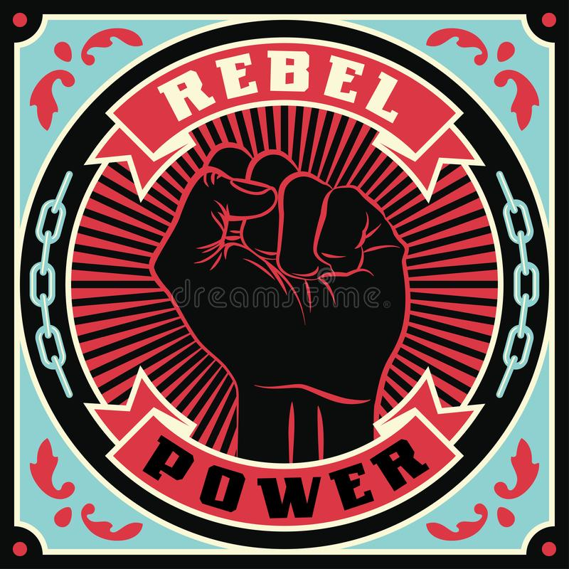 Raised protest human fist royalty free illustration