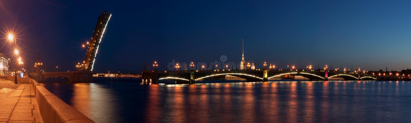 Download The Raised Troitsk Bridge In St.-Petersburg Stock Image - Image: 19832783