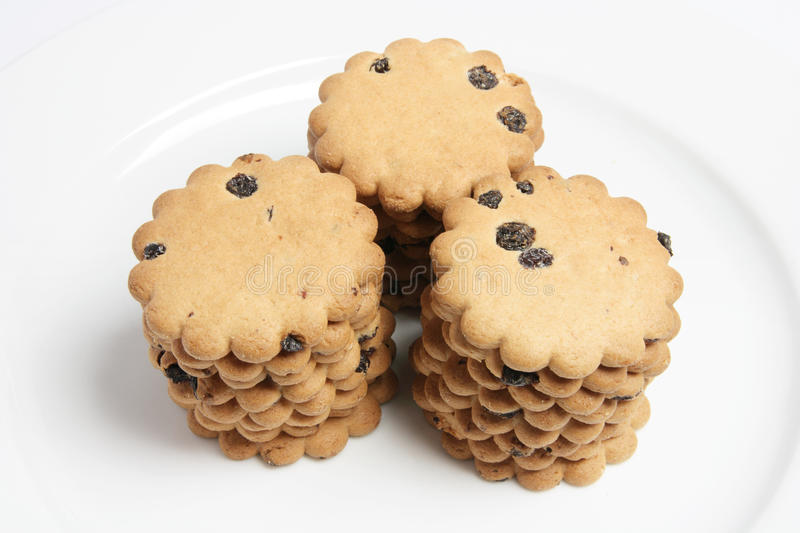 Download Raisin Biscuits Stacked On Plate Stock Photo - Image: 13154054