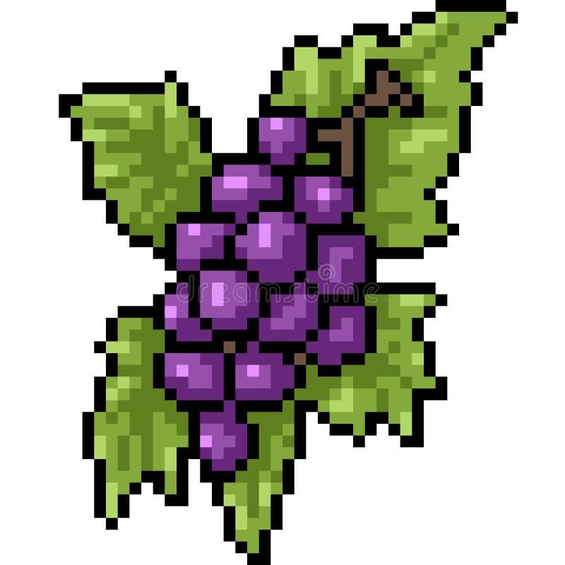 Raisin d'art de pixel de vecteur illustration de vecteur