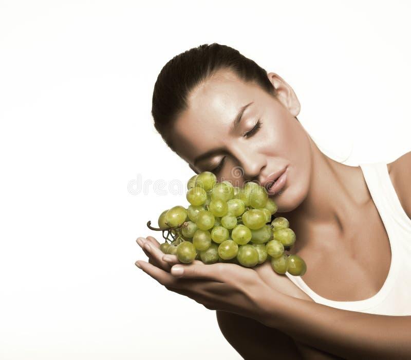 raisin de fille photographie stock