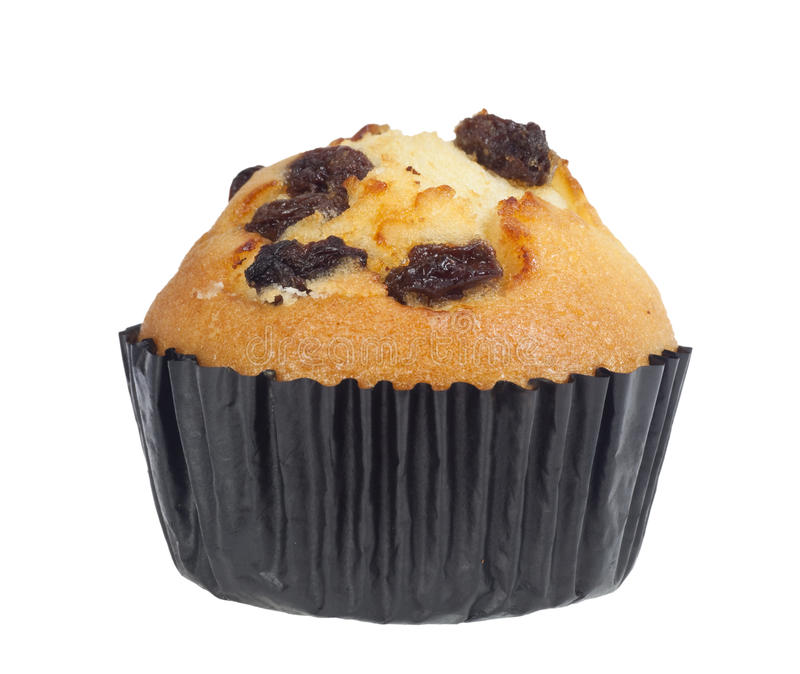 Raisin muffin stock image