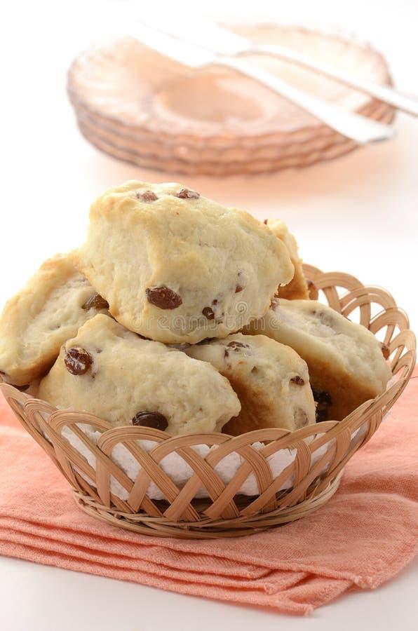 Raisin Tea Biscuits Royalty Free Stock Photos