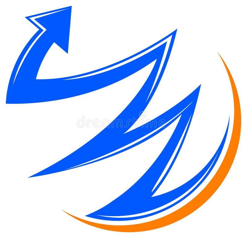 Raising arrow stock illustration