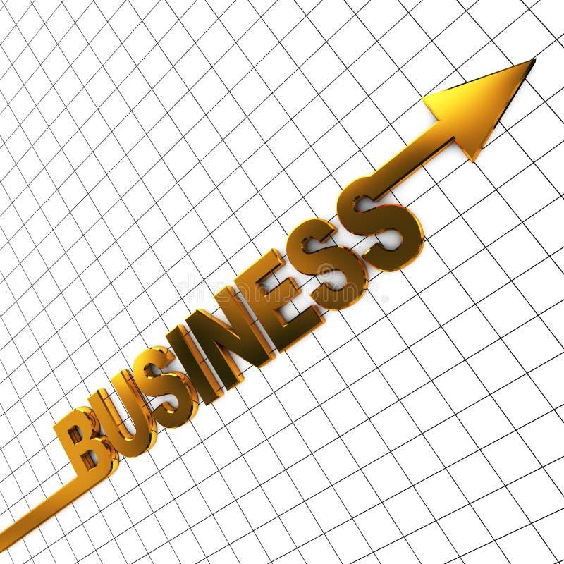 Raising business vector illustration