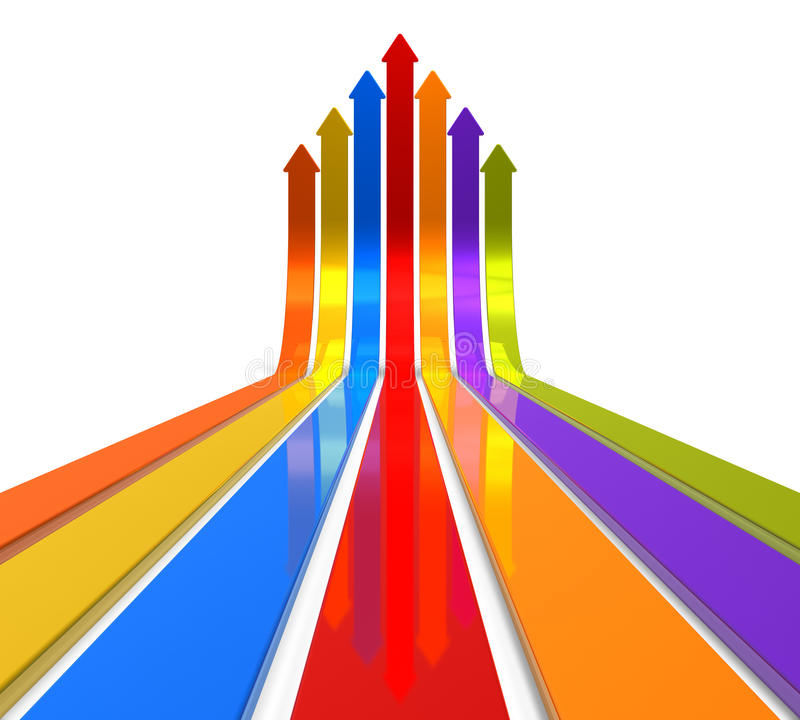 Free Raising Color Arrows Royalty Free Stock Photography - 21845967