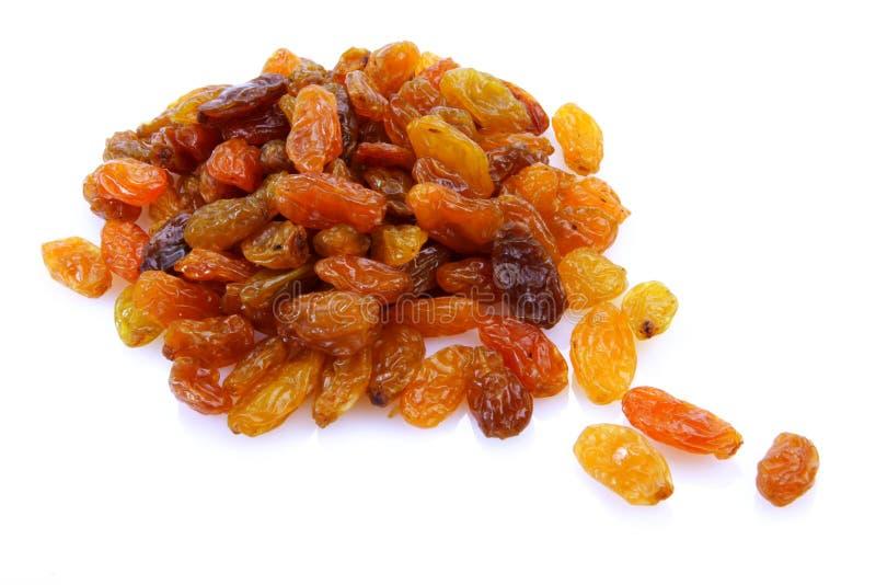 Raisins. Sweet raisins on white background royalty free stock image