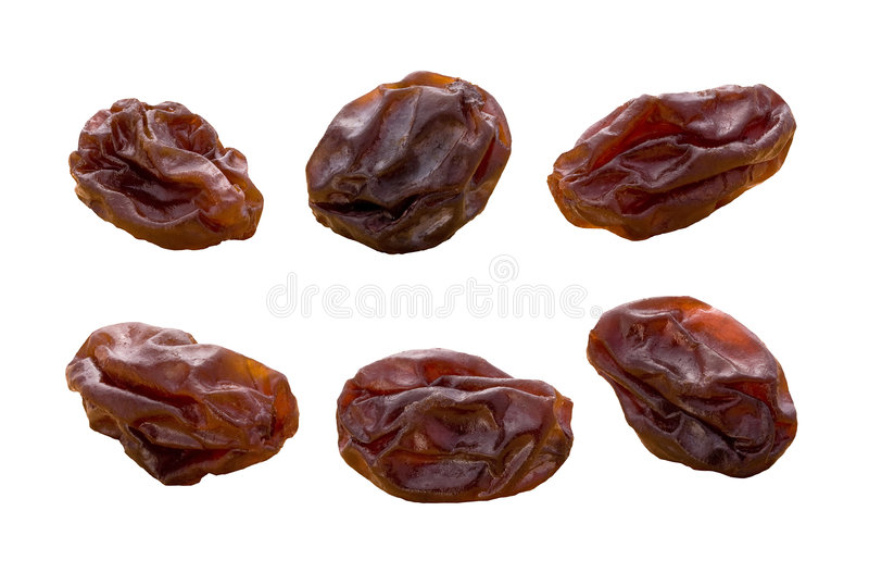 Raisins (with clipping path). Raisins isolated on a white background with a clipping path. Isolation is on a transparent layer in the PNG format stock images