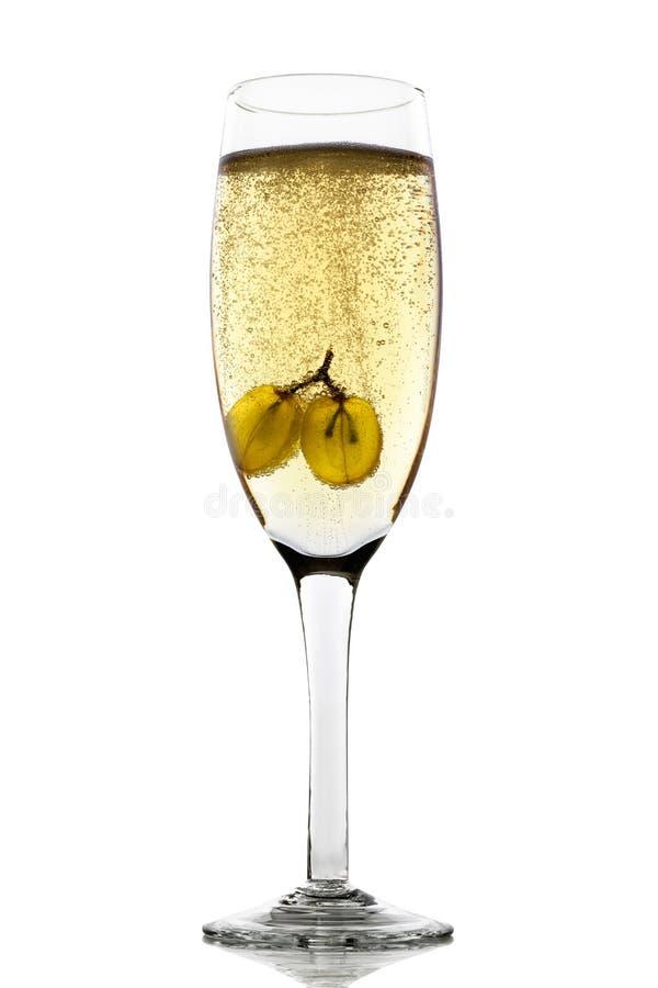 Raisins en champagne photos libres de droits