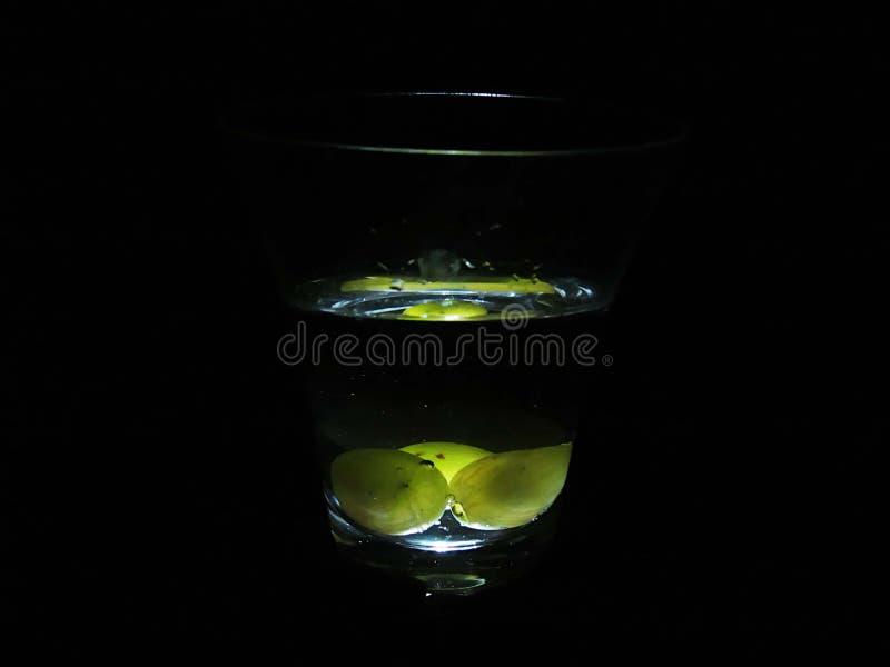 Raisins en vin blanc photographie stock libre de droits