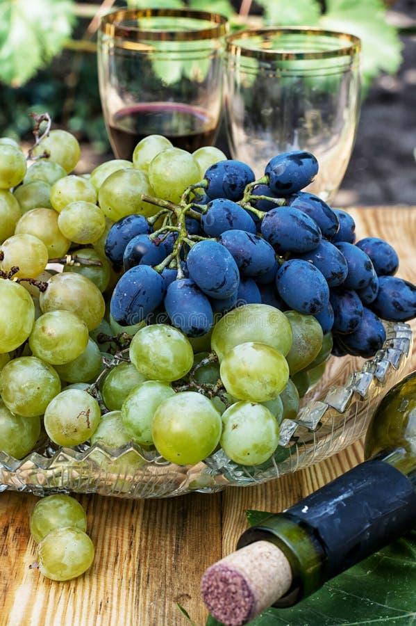 Raisins mûrs de vigne photographie stock