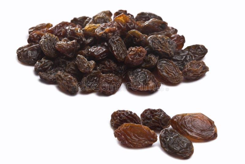 Raisins no branco foto de stock royalty free