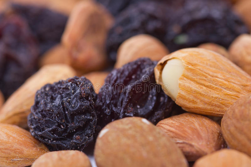 Download Raisins and nuts close stock photo. Image of eating, color - 26641410