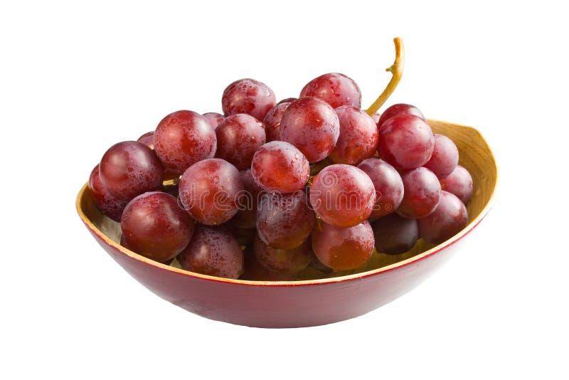 Raisins roses doux d'isolement sur le fond blanc image libre de droits