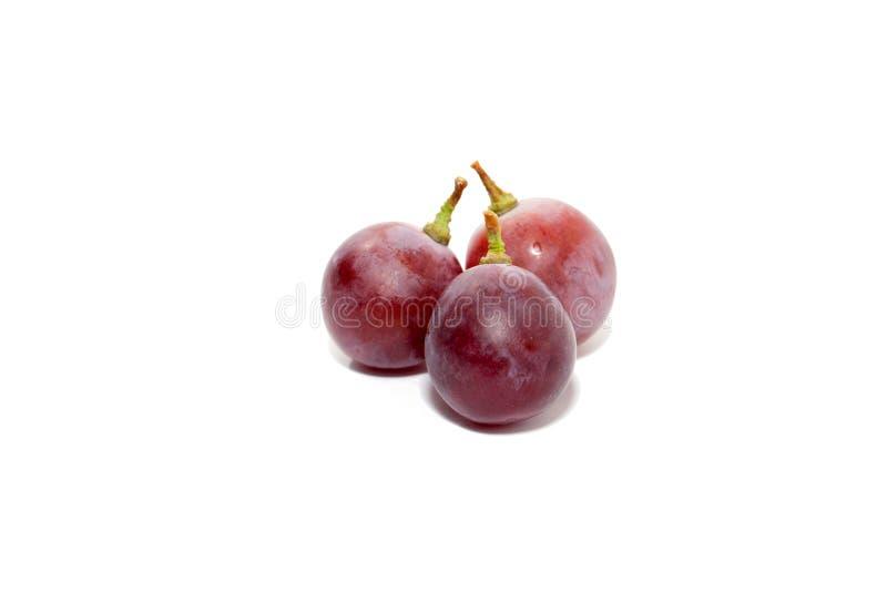Raisins rouges d'isolement sur le fond blanc photos libres de droits