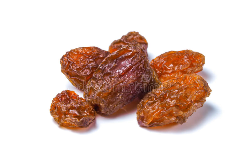 Raisins secs d'or photographie stock