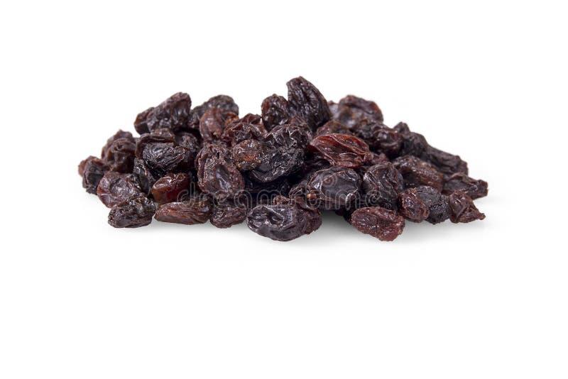 raisins secs secs d'isolement sur le blanc photographie stock