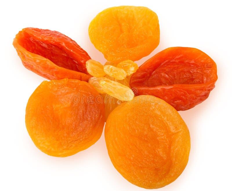 Raisins secs et abricots secs photo stock