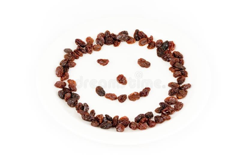 Raisins Smiley Face stock image